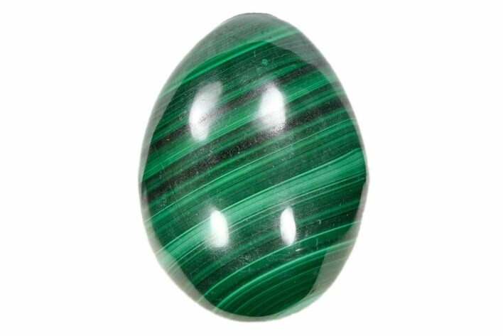 "Stunning 1.3"" Polished Malachite Egg - Congo"