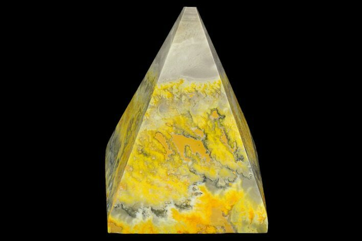 "2.6"" Polished Bumblebee Jasper Pyramid - Indonesia"