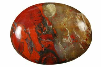 "1.8"" Polished Brecciated Red Jasper Pocket Stone  For Sale, #121127"