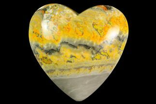 "3.1"" Polished Bumblebee Jasper Heart - Indonesia For Sale, #121208"