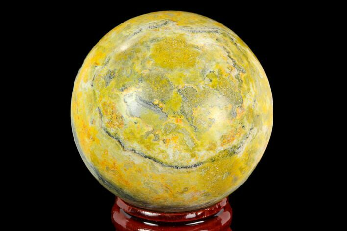 "1.9"" Polished Bumblebee Jasper Sphere - Indonesia"