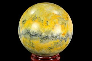 "Buy 2.1"" Polished Bumblebee Jasper Sphere - Indonesia - #121231"