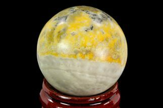 "1.3"" Polished Bumblebee Jasper Sphere - Indonesia For Sale, #121235"