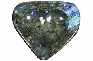 "Buy 7.8"" Flashy Labradorite Heart-Shaped Dish - Madagascar - #120175"