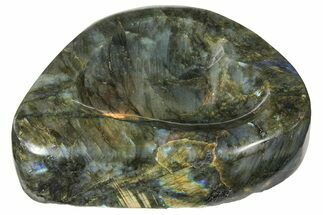 "7"" Flashy Labradorite Heart-Shaped Dish -  For Sale, #120737"