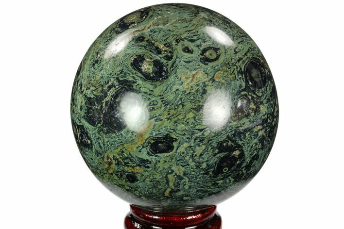 "3.3"" Polished Kambaba Jasper Sphere - Madagascar"