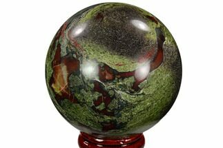 "Buy 2.3"" Polished Dragon's Blood Jasper Sphere - South Africa - #121588"
