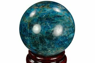 "2.1"" Bright Blue Apatite Sphere - Madagascar For Sale, #121844"