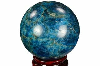 "2.55"" Bright Blue Apatite Sphere - Madagascar For Sale, #121793"