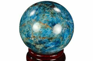 "Buy 2.3"" Bright Blue Apatite Sphere - Madagascar - #121801"