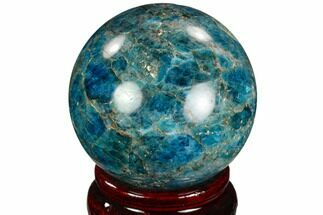 "Buy 2.1"" Bright Blue Apatite Sphere - Madagascar - #121810"
