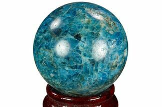 "2.0"" Bright Blue Apatite Sphere - Madagascar For Sale, #121814"