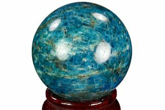 "2"" Bright Blue Apatite Sphere - Madagascar For Sale, #121817"