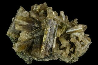 "1.5"" Yellow-Green Clinozoisite Crystal Cluster - Peru  For Sale, #121988"