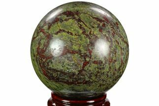 "4.7"" Polished Dragon's Blood Jasper Sphere - South Africa For Sale, #122552"