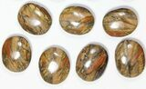 Wholesale Lot: 17 Polished Tiger's Eye Palm Stones - South Africa - #115961-1