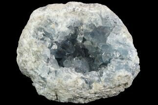 "5.6"" Sky Blue Celestine (Celestite) Geode - Madagascar For Sale, #123080"