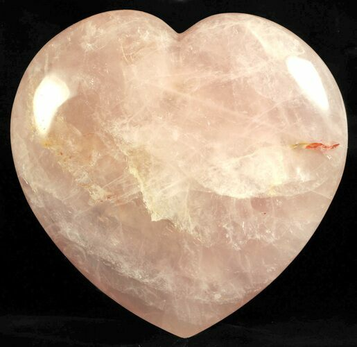 "6.1"" Polished Rose Quartz Heart - Madagascar"