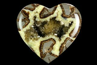 "5"" 3D Polished Utah Septarian Heart - Beautiful Crystals For Sale, #123863"