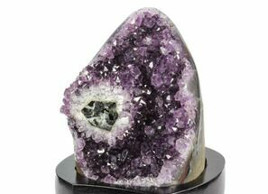 "Buy 4.8"" Tall, Amethyst Formation With Wood Base - Uruguay - #121249"