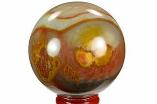 "Buy 2.5"" Polished Polychrome Jasper Sphere - Madagascar - #124144"