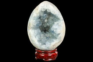 "4.5"" Crystal Filled, Celestine (Celestite) ""Egg"" For Sale, #124703"