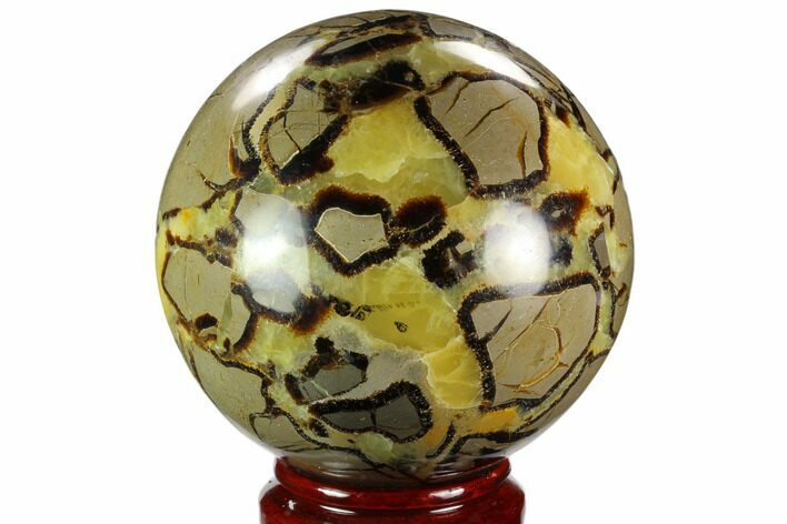 "5.3"" Polished, Septarian Sphere - Madagascar"