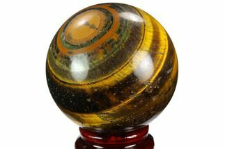 "Buy 2.6"" Polished Tiger's Eye Sphere - Africa - #124612"