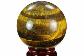"2.6"" Polished Tiger's Eye Sphere - Africa For Sale, #124613"