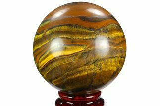 "Buy 3"" Polished Tiger's Eye Sphere - Africa - #124621"