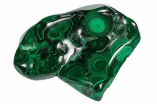 "3.9"" Polished Malachite Specimen - Congo For Sale, #125813"