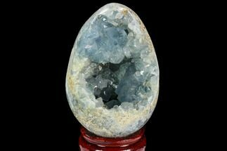 "Buy 4.1"" Crystal Filled, Celestine (Celestite) ""Egg"" - #124711"