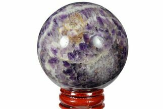 "2.25"" Polished Chevron Amethyst Sphere For Sale, #124499"