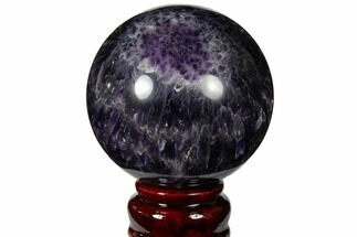 "2.85"" Polished Chevron Amethyst Sphere For Sale, #124505"