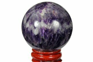 "1.85"" Polished Chevron Amethyst Sphere For Sale, #124526"