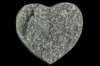 "2.4"" Green Quartz Heart - Uruguay For Sale, #123701"