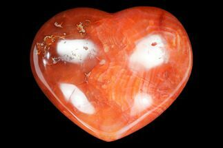 "2.9"" Colorful Carnelian Agate Heart For Sale, #125729"