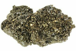 "4.3"" Pyrite Crystal Cluster with Small Quartz Crystals - Peru For Sale, #126554"