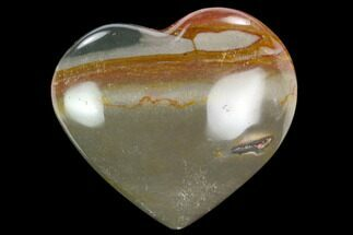 "Buy 2.5"" Wide, Polychrome Jasper Heart - Madagascar - #126727"