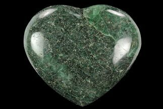 "3.1"" Polished Fuchsite Heart - Madagascar For Sale, #126782"