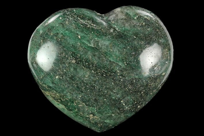 "3.2"" Polished Fuchsite Heart - Madagascar"