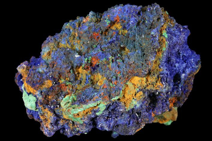 "2.6"" Sparkling Azurite and Malachite Crystal Cluster - Morocco"