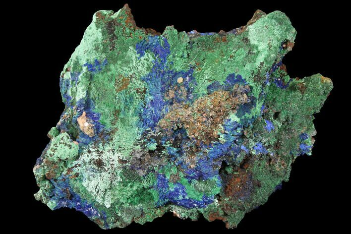 "4.8"" Sparkling Azurite and Malachite Crystal Cluster - Morocco"
