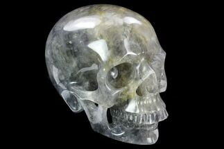 "Buy 5"" Carved Smoky Quartz Crystal Skull - Madagascar - #127567"