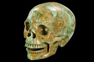 "5"" Realistic, Polished Autumn Jasper Skull  For Sale, #127610"