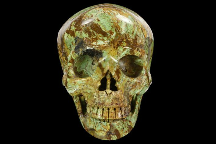 "4.9"" Realistic, Polished Autumn Jasper Skull"