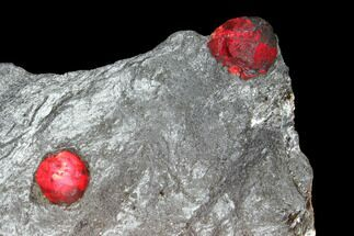 "2.5"" Two Red Embers Garnets in Graphite - Massachusetts For Sale, #127766"