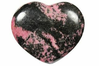 "Buy 2.7"" Polished Rhodonite Heart - Madagascar - #126757"