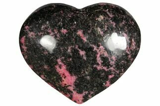 "Buy 4.2"" Polished Rhodonite Heart - Madagascar - #126769"