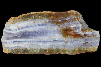 "3.9"" Polished Blue Lace Agate Slice - South Africa For Sale, #128432"